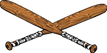 361x180 Baseball Bat Clipart Crossed
