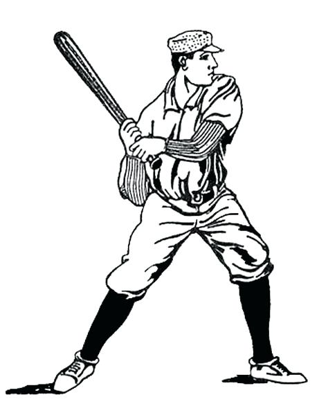 474x600 Baseball Clipart Of A Black And White Baseball Royalty Free Vector