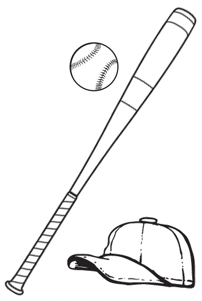 688x1024 How To Draw A Baseball How To Draw A Baseball Bat Clipart Best