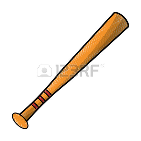 450x450 Baseball Bat Ball Sport Image Sketch Royalty Free Cliparts