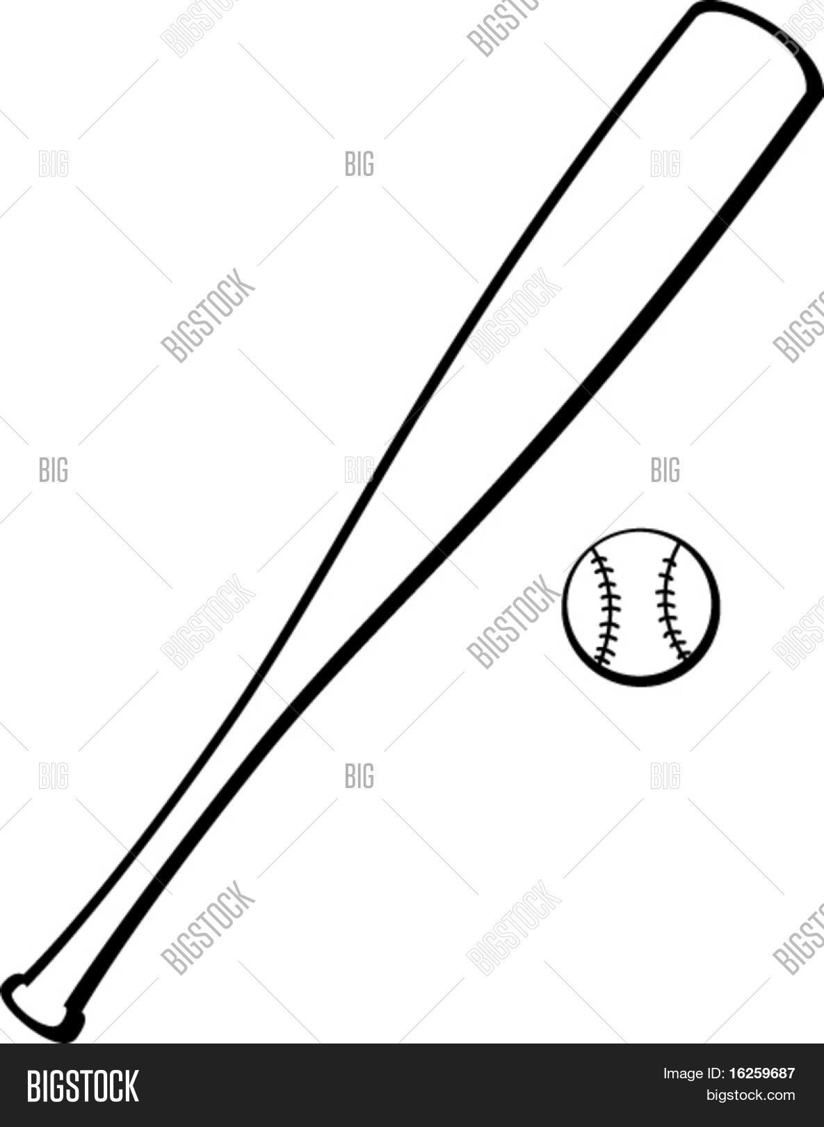 1185x1620 Baseball Bat Ball Vector Amp Photo Bigstock