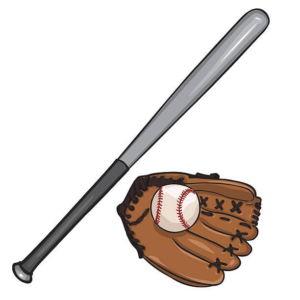 612x612 Baseball Bat Clipart Glove