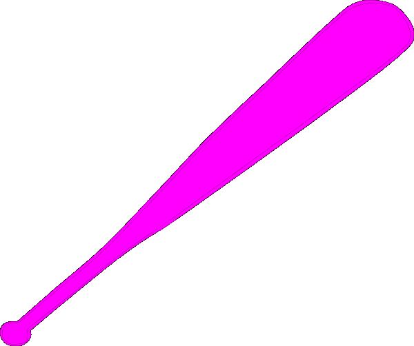 600x502 Baseball Bat Clipart Pink