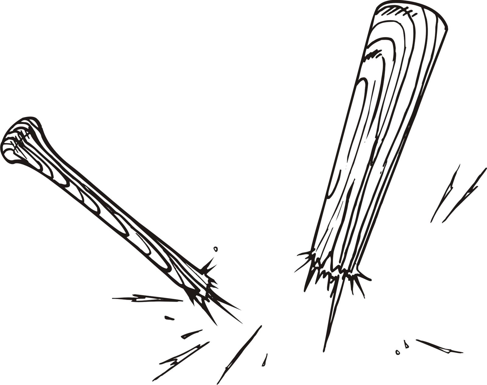 Baseball Bat Line Art