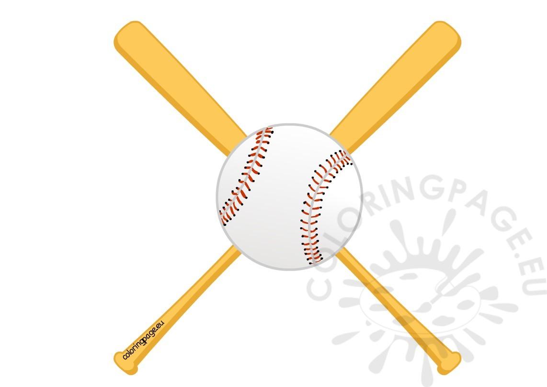 1142x807 Baseball Bat Clipart Coloring Page