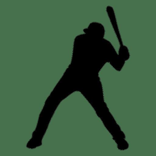 512x512 Baseball Player Strike Silhouette