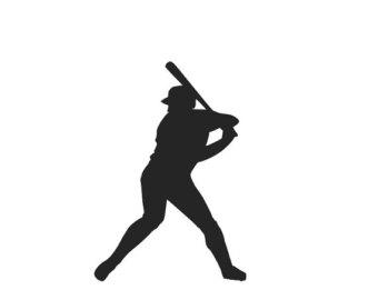 340x270 Baseball Player Svg Etsy