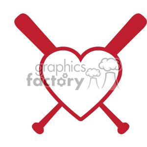 300x300 Royalty Free Baseball Bat Heart Love Monogram Svg Cut File Vector