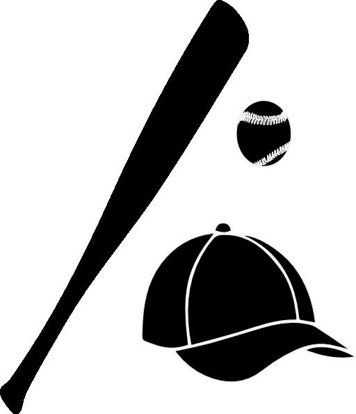 512x595 Baseball Bat Ball Cap Clipart I2clipart