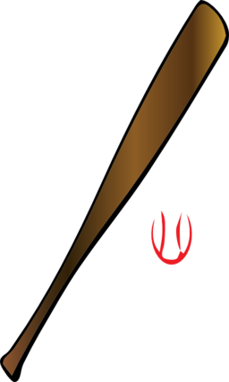 256x426 Baseball Bat Clipart I2clipart