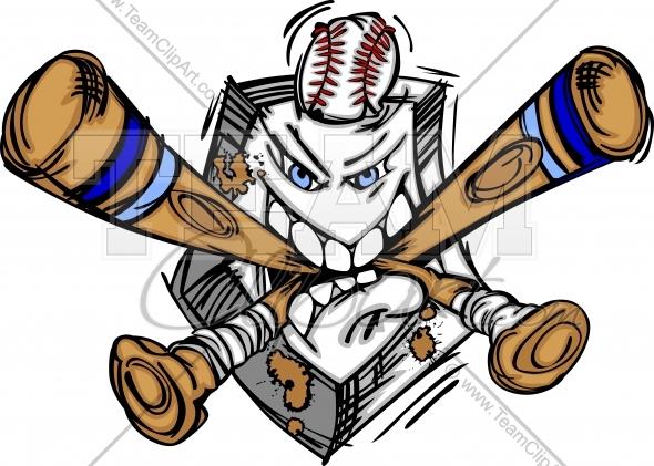 590x421 Baseball Cartoon Clipart Image.