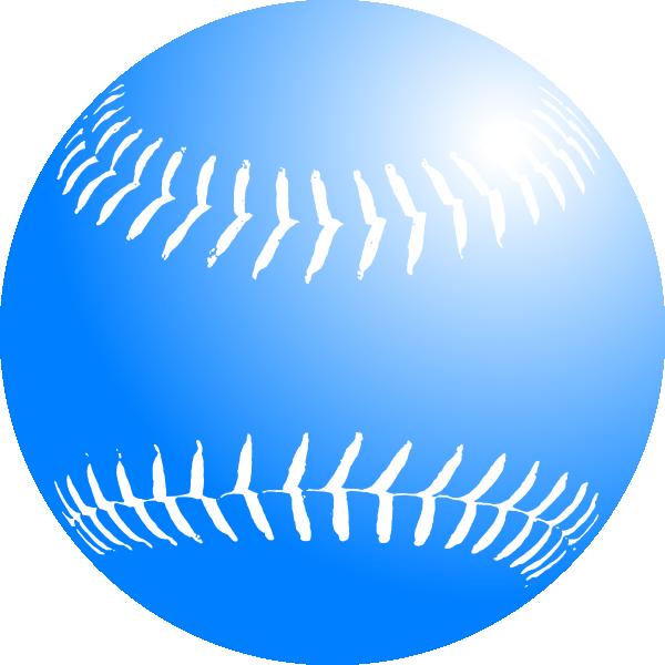 600x600 Blue Softball Clip Art