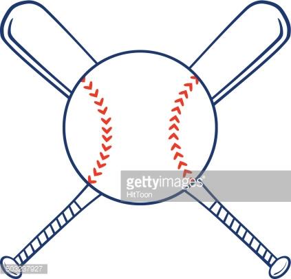 423x405 Baseball Bat Clipart Baseball Logo