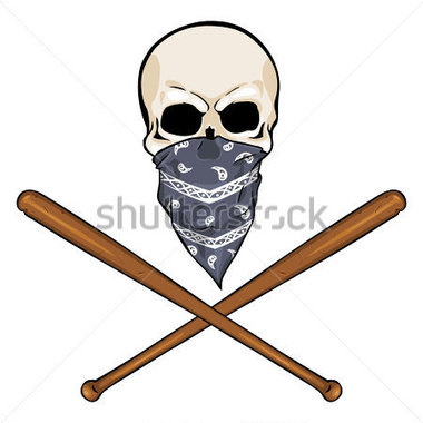 380x380 Baseball Skull Clipart