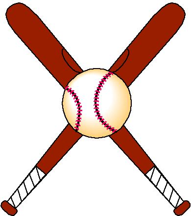 390x441 Softball Bats Crossed Clipart