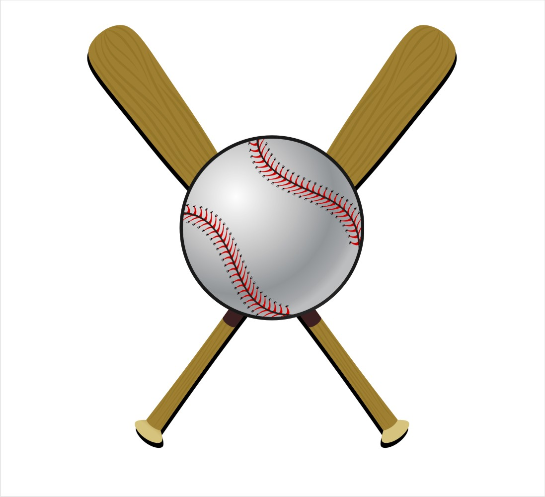 1097x1000 Baseball Bat Clipart Crossed