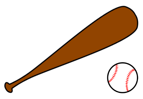 497x345 Baseball And Bat Clipart