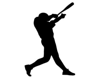 340x270 Baseball Player Clipart Black And White Clipart Panda