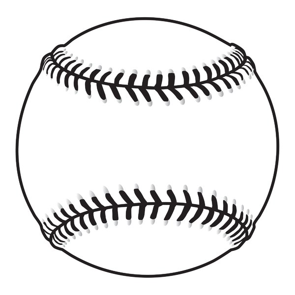 600x600 Black And White Baseball Clipart 101 Clip Art