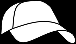297x174 White Baseball Cap Clip Art