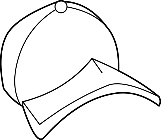 550x479 Baseball Cap Coloring Page