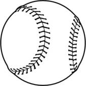 170x170 Baseball Clip Art Black And White Clipart For Logos