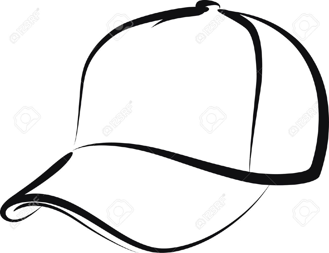 1300x1000 Cap Clipart Black And White
