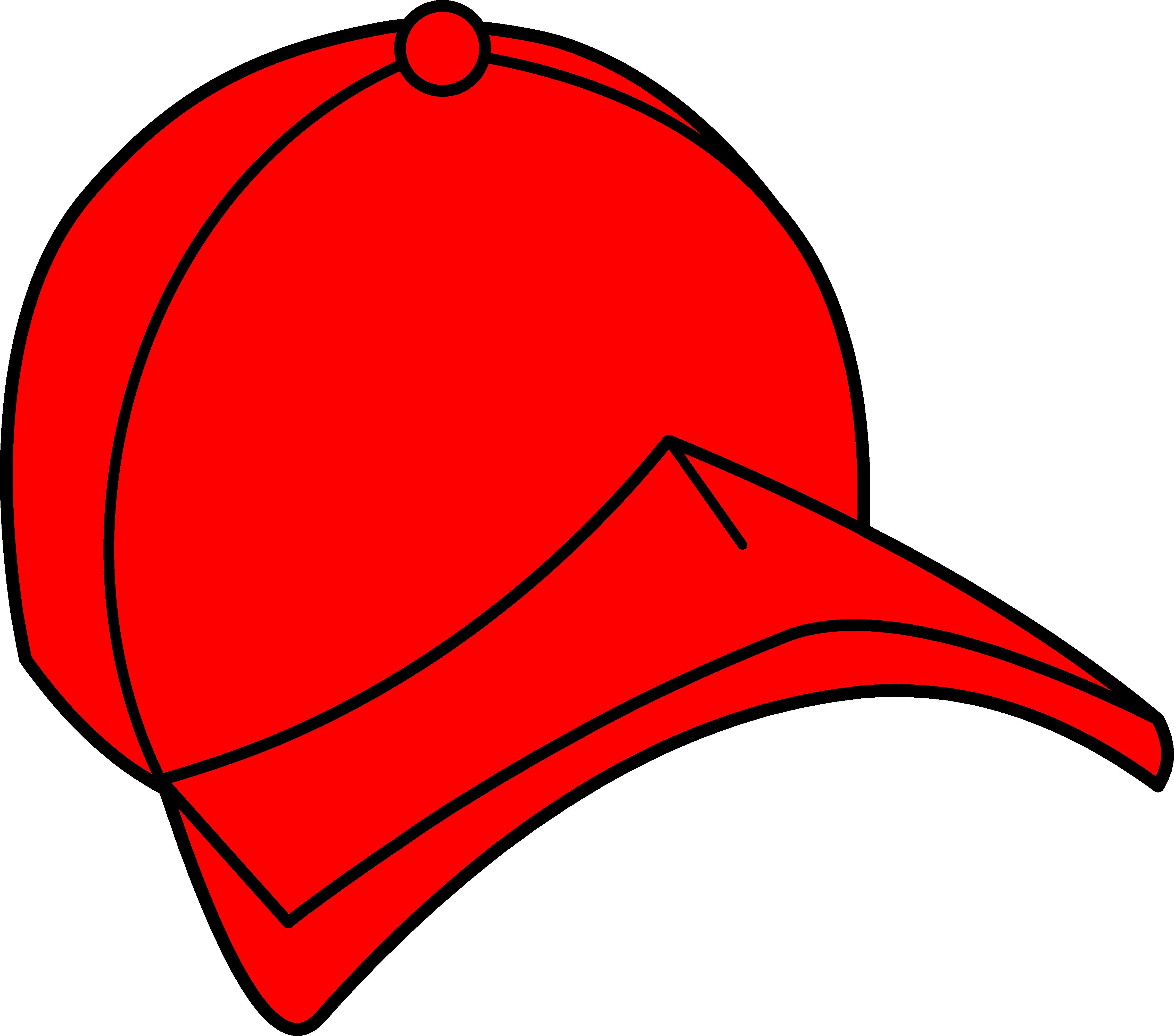 4554x4020 Red Baseball Cap Clipart