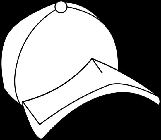 550x479 Baseball Hat Baseball Cap Coloring Page Free Clip Art