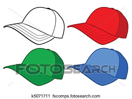 450x338 Clipart Of Baseball Cap Vector Template. K5071711