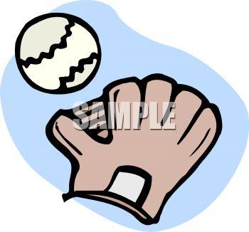 350x326 Cartoon Baseball And Mitt