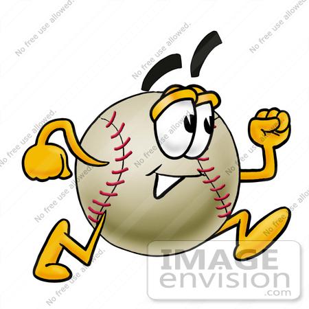450x450 Clip Art Graphic Of A Baseball Cartoon Character Running