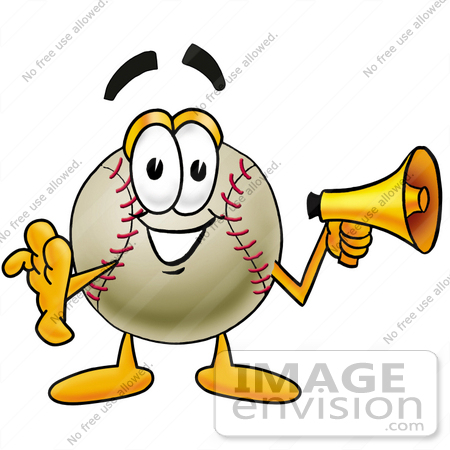 450x450 Cliprt Graphic Of Baseball Cartoon Character Screaming Into