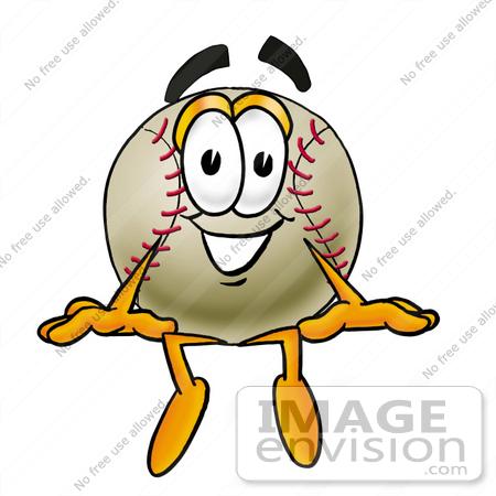 450x450 Clip Art Graphic Of A Baseball Cartoon Character Sitting
