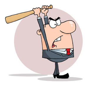 300x293 Angry Cartoon Clipart Image