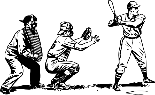600x368 Batter Catcher And Umpire Clip Art