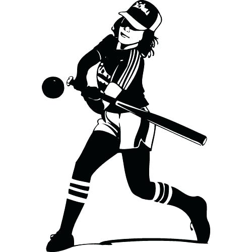 500x500 Clipart Softball Softball Catcher Coloring Pages Sports Coloring
