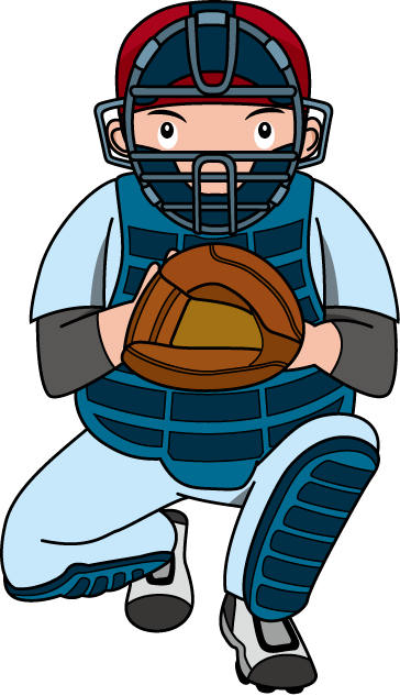 Baseball Catcher Clipart Free Download Best Baseball Catcher