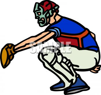 350x328 Royalty Free Clip Art Image Baseball Catcher