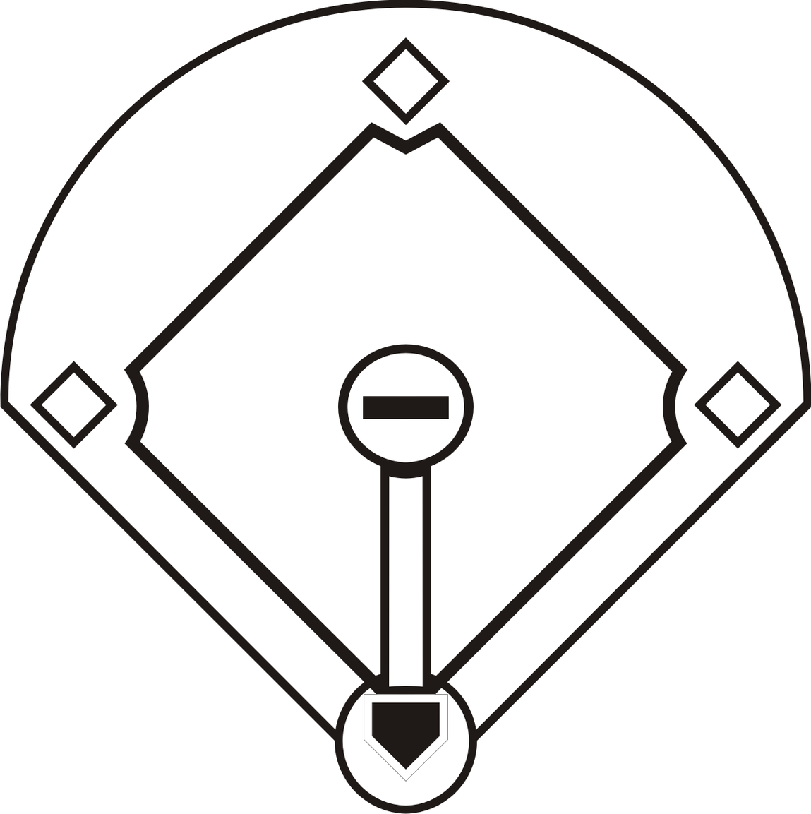 1149x1153 Baseball Diamond Clipart Images 3