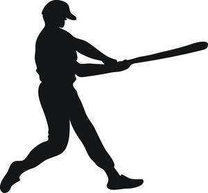300x278 Image of Clip Art Baseball Bat