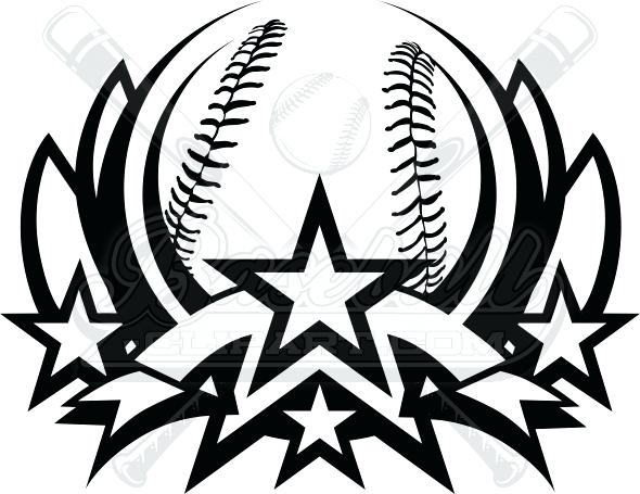 590x455 Baseball Clipart Black White Baseball Girl Playing Baseball