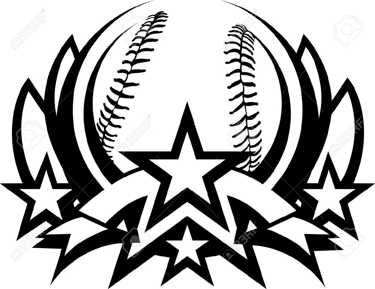 Baseball Clipart Black And White Free