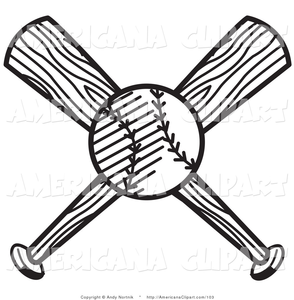 Baseball Diamond Clipart Black And White