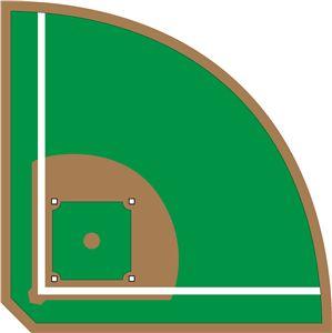 Baseball Diamond Diagram Clipart