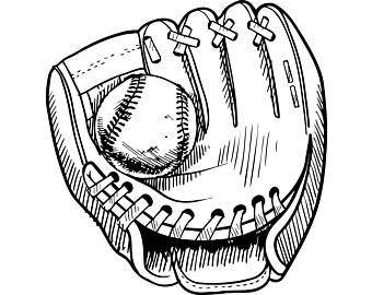 340x270 Baseball Glove Svg Etsy