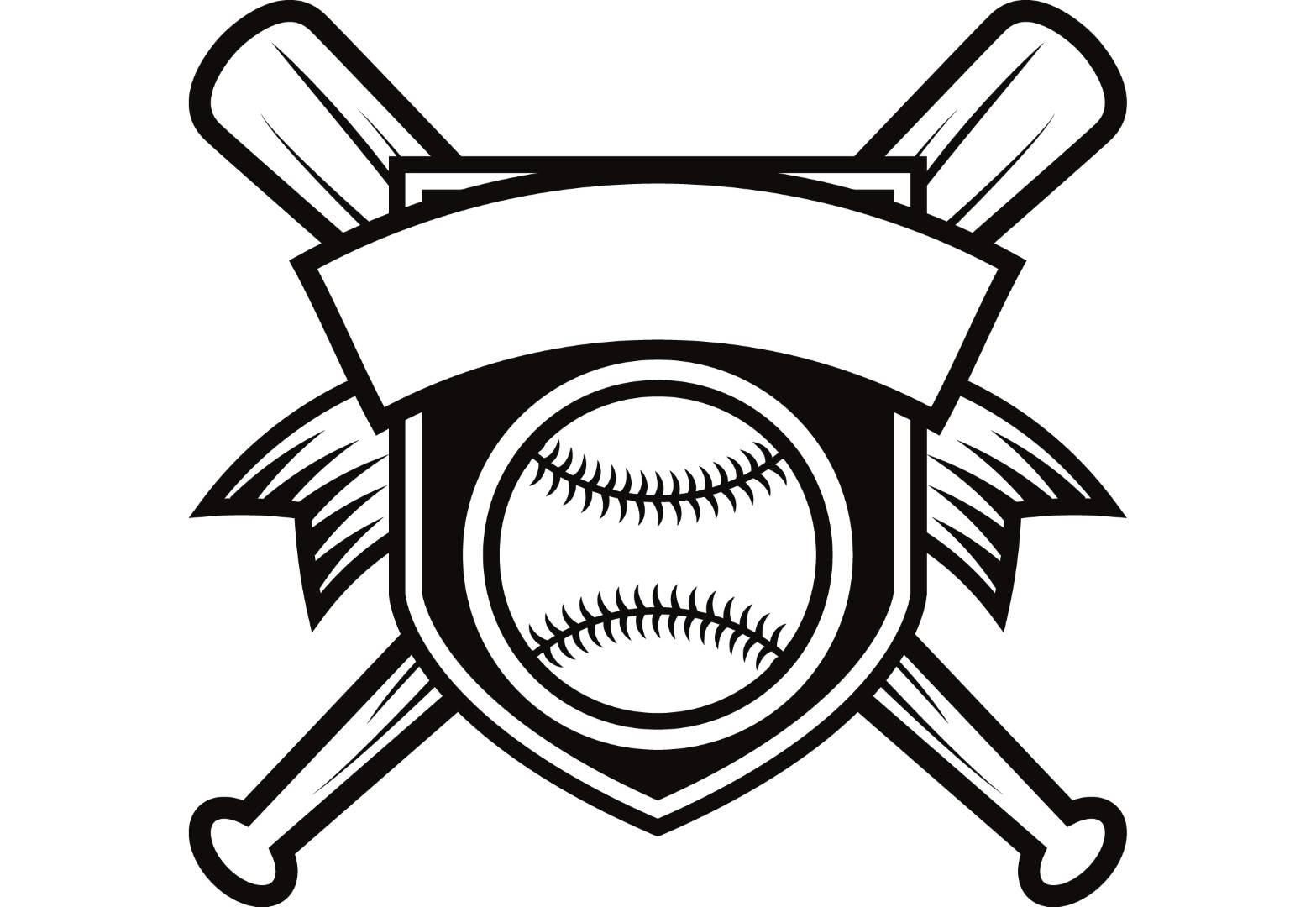 1567x1080 Baseball Logo 2 Banner Bats Crossed Ball Diamond Sports