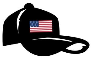 300x195 Baseball Hat Free Patriotic Clip Art Image Baseball Cap