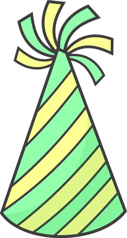 430x800 Free Party Hat Clipart