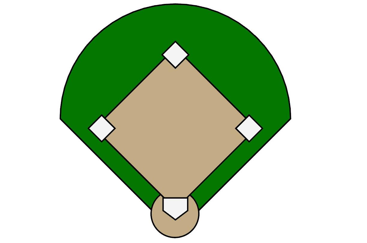 1222x810 Baseball Diamond Top Baseball Field Outline Free Diamond File